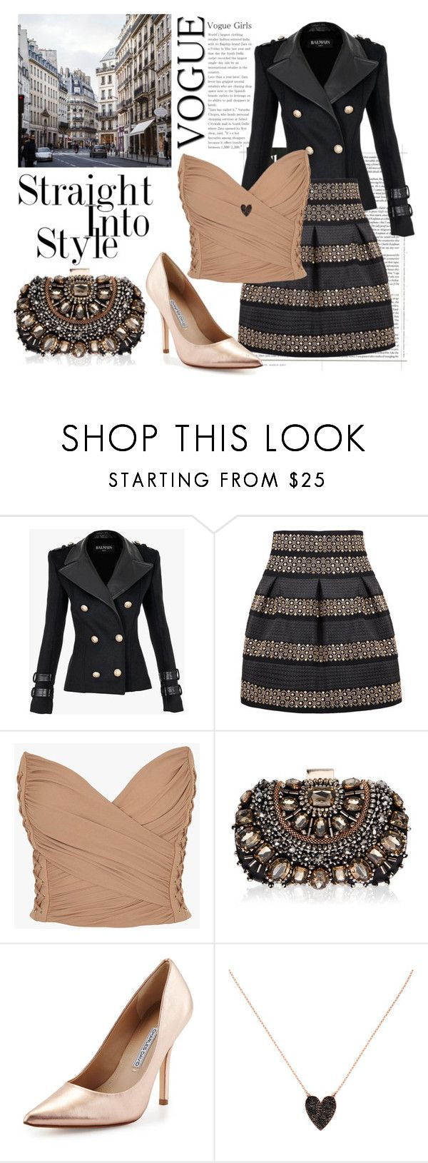 """16.12.2015"" by fashion-sense-xo ❤ liked on Polyvore featuring Balmain, Lipsy, Charles David and Jennifer Fisher"