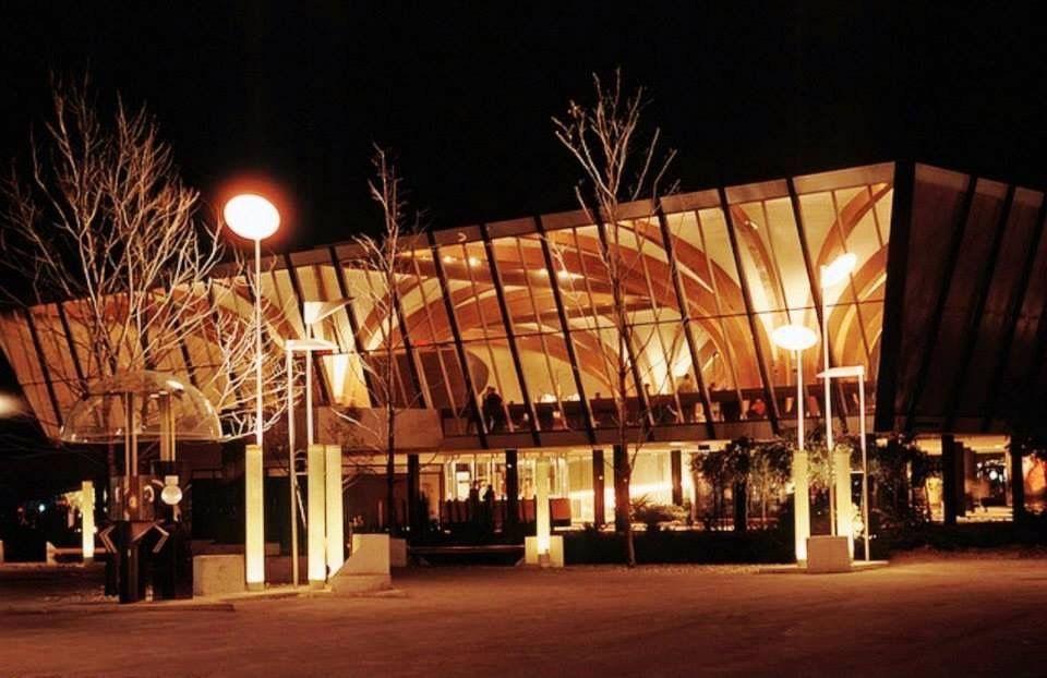 Pavillon de l'Australie le soir (groupe Facebook Expo 67)