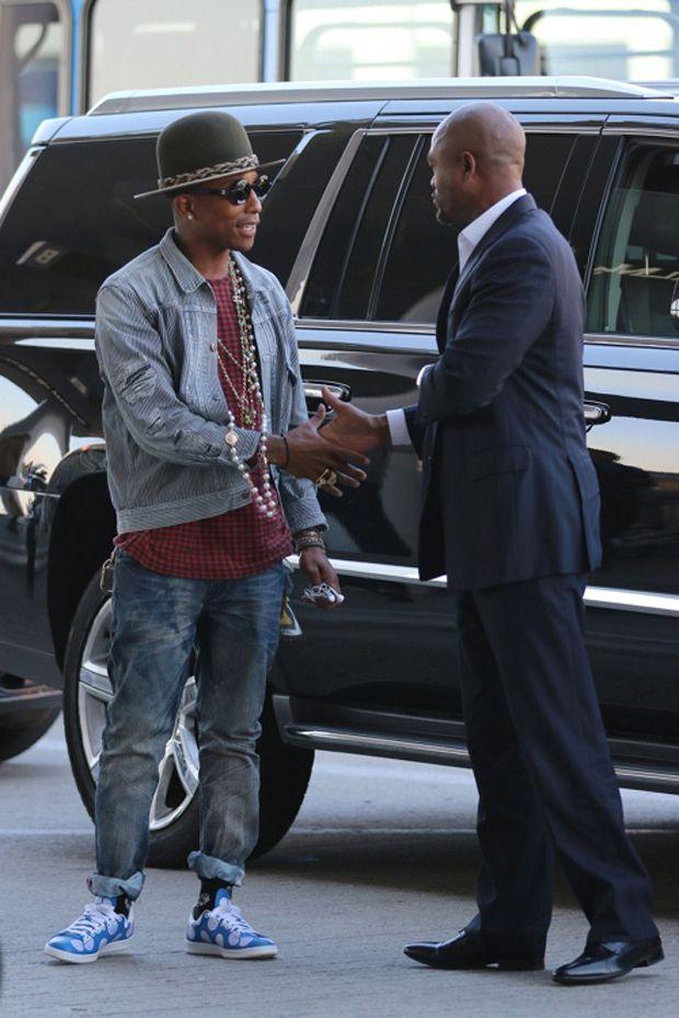 Pharrell in the Pharrell Williams x adidas Stan Smith Big Polka Dot ... 26d226f62cc8
