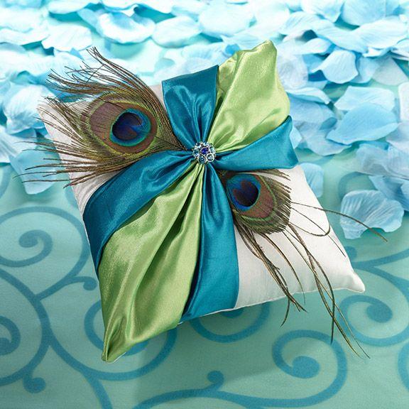 Ring Bearer Pillow - Peacock