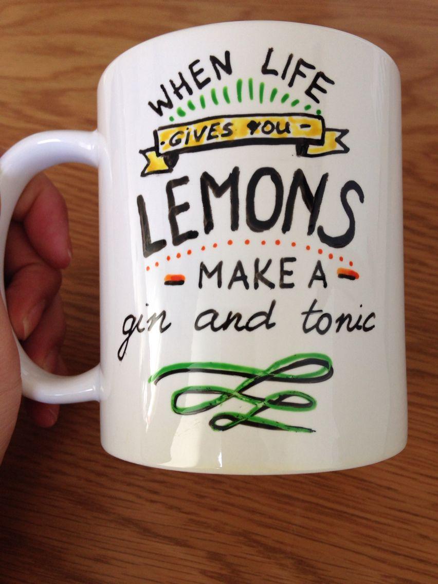 Mug/lemons