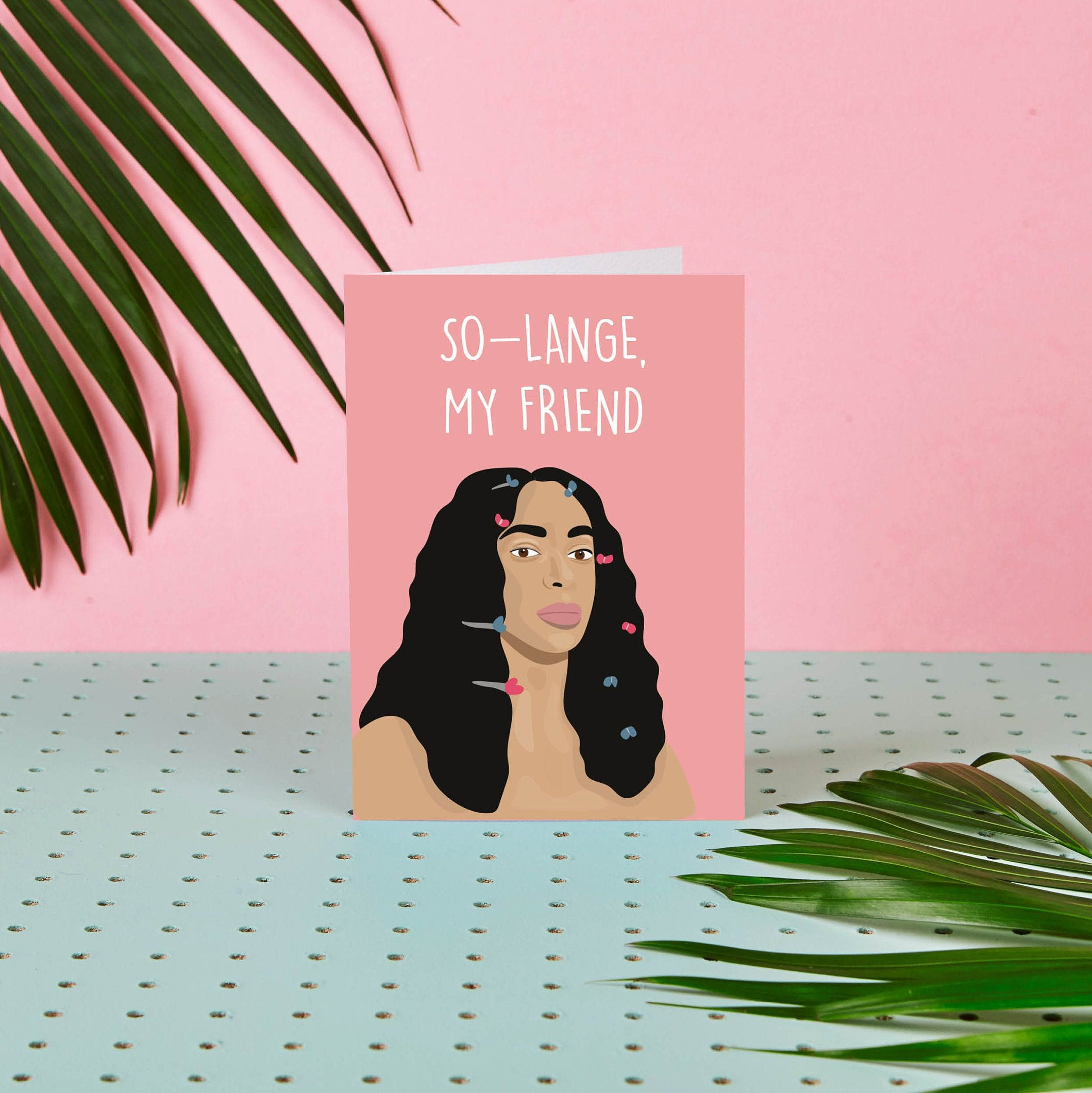 Solange My Friend Solange Card So Long Goodbye Etsy Cards Greeting Cards Leaving Cards