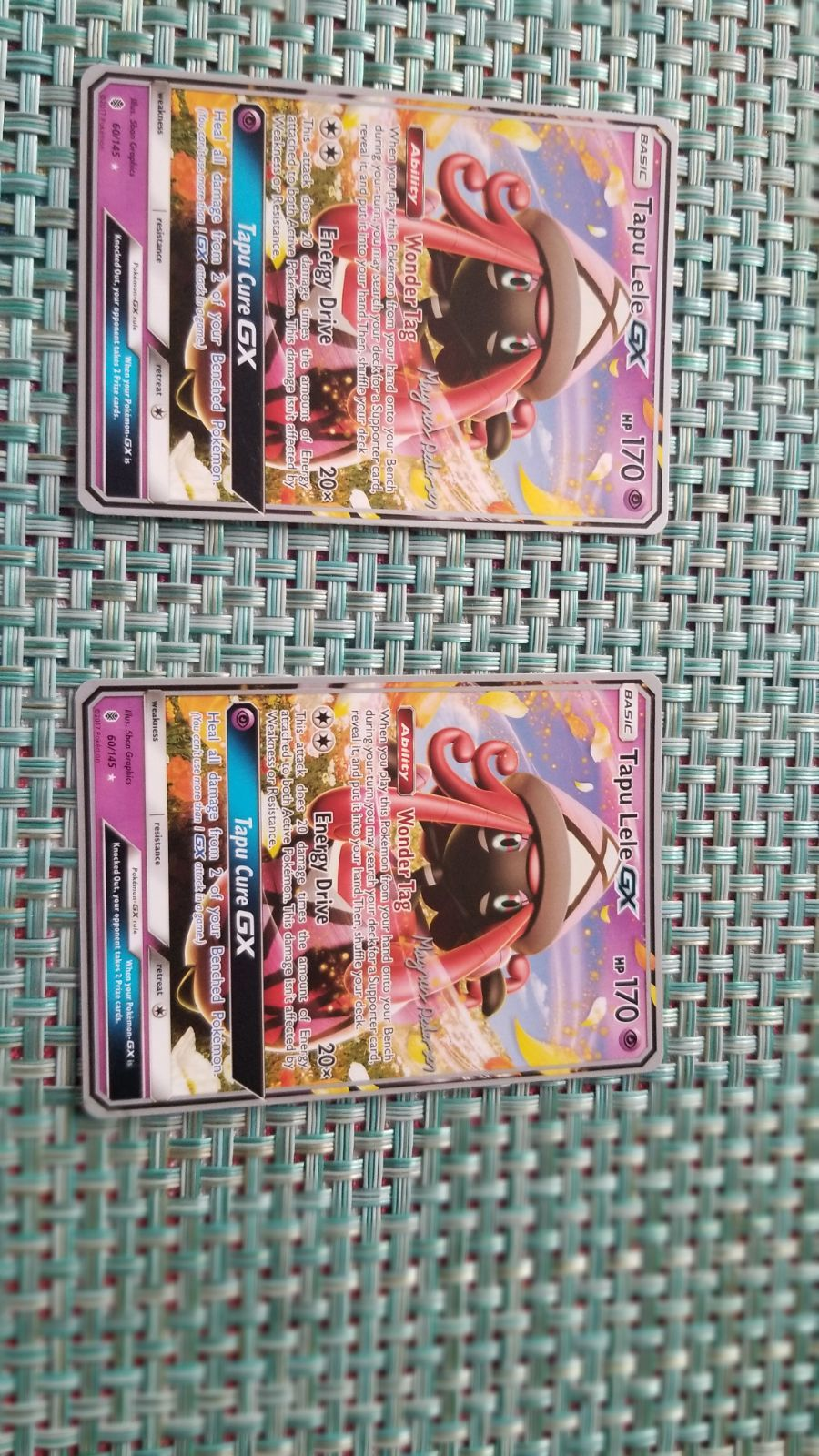 Good condition pokemon card 2 cards non holo fast shipping