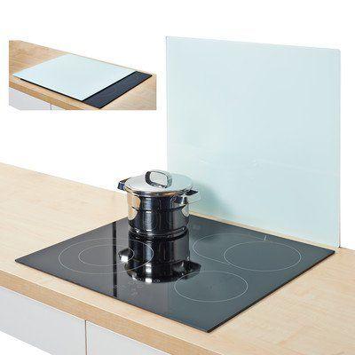 Zeller 26282 Herdblende-\/Abdeckplatte, Glas, weiß Wohnung 2k17 - abfallbehälter für die küche