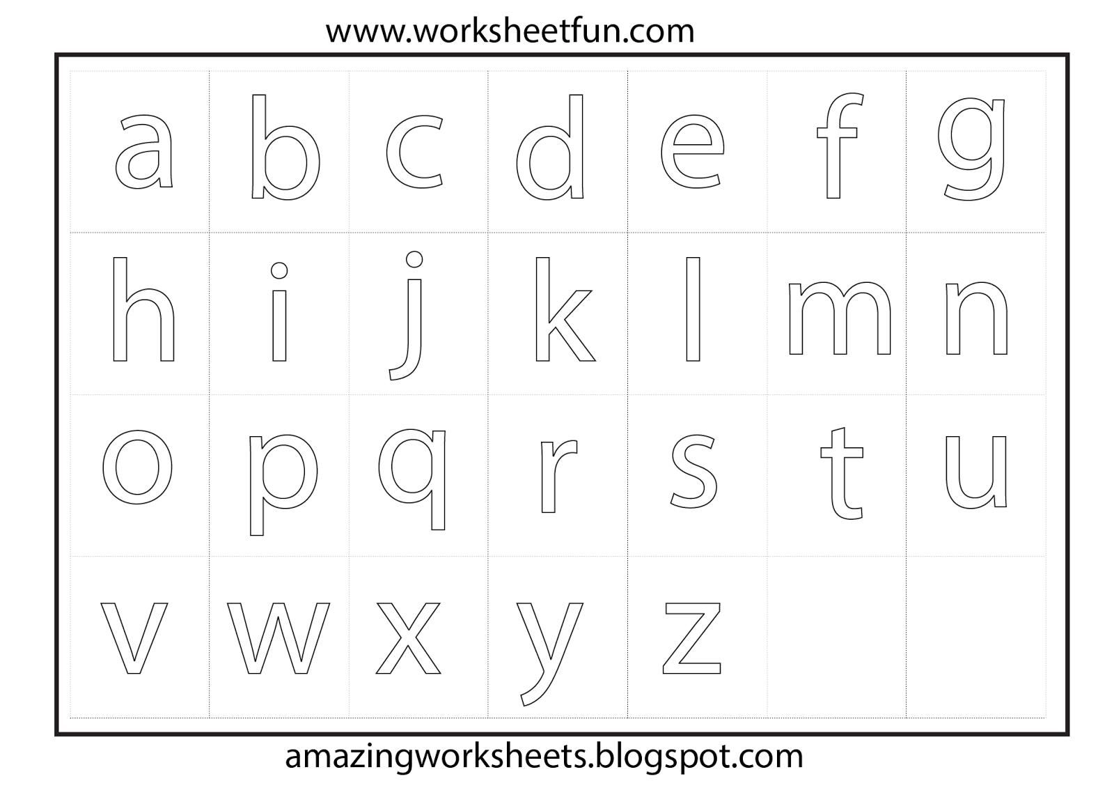 A To Z Worksheets In