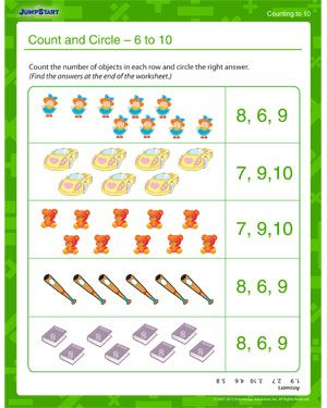 Common Worksheets » Counting To 10 Worksheets - Preschool and ...