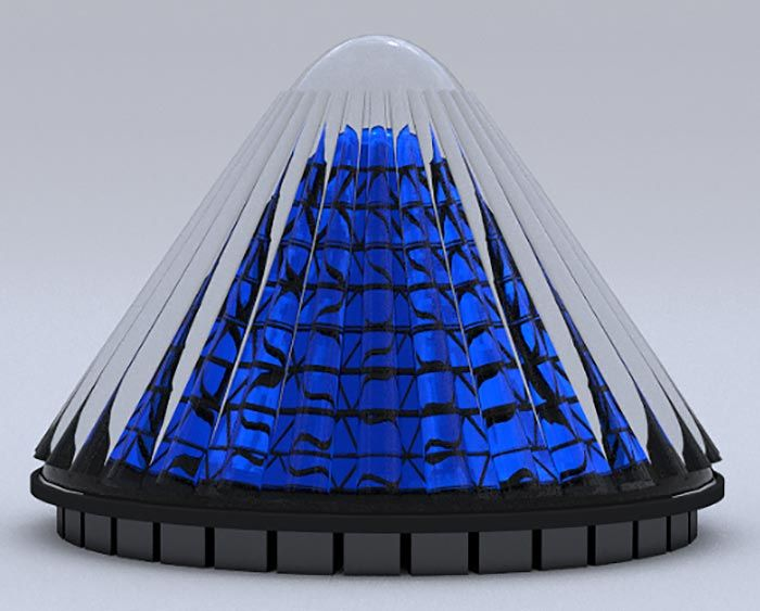 Cone Shaped Spinning Solar Cells Generate 20 Times More