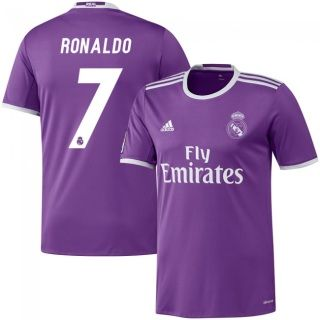quality design 3c5dc e4c6c 2016/17 Madrid Cristiano Ronaldo 7 Purple Away Soccer Jersey ...