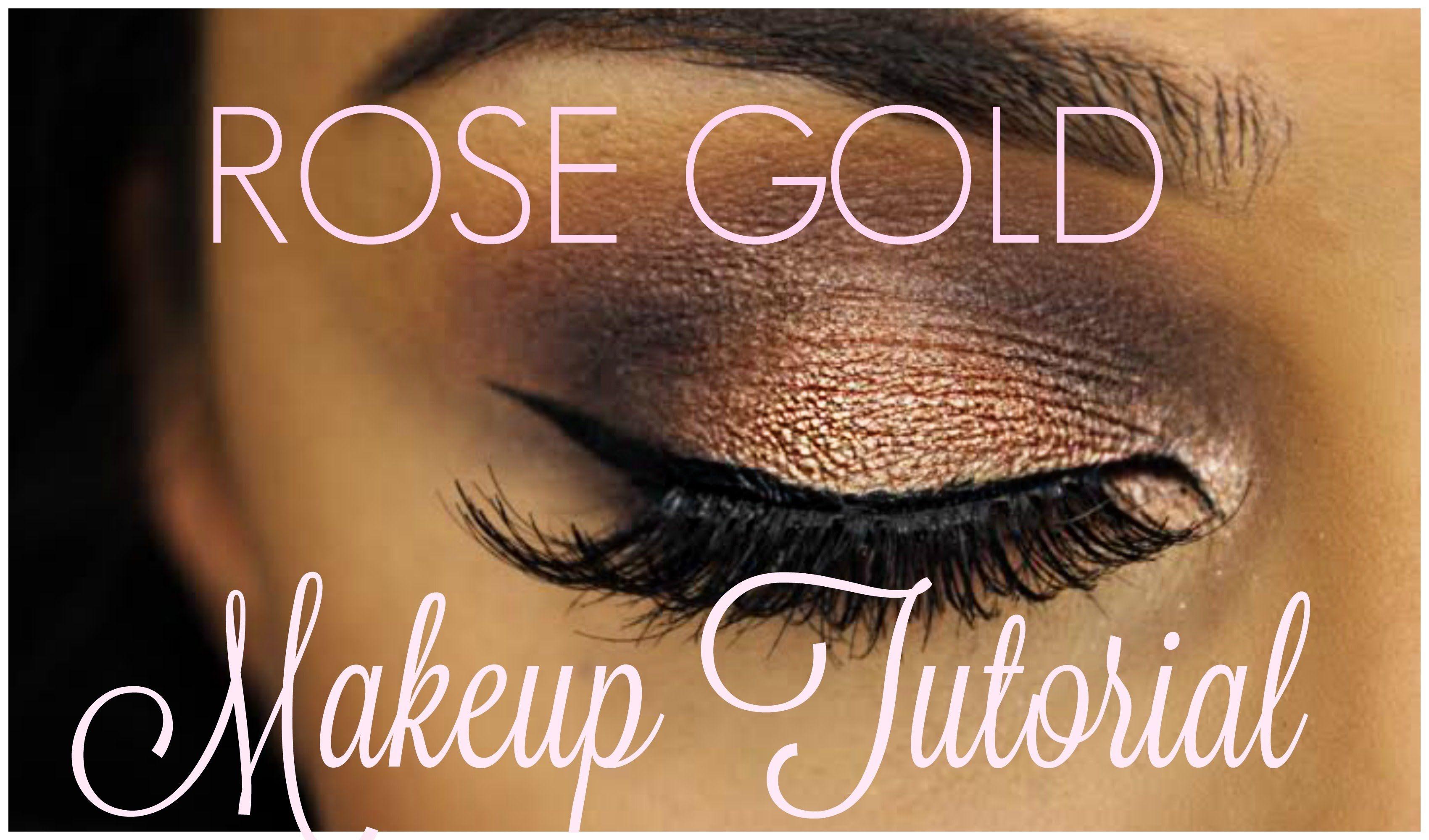 rose gold eye makeup tutorial // makeup for green eyes