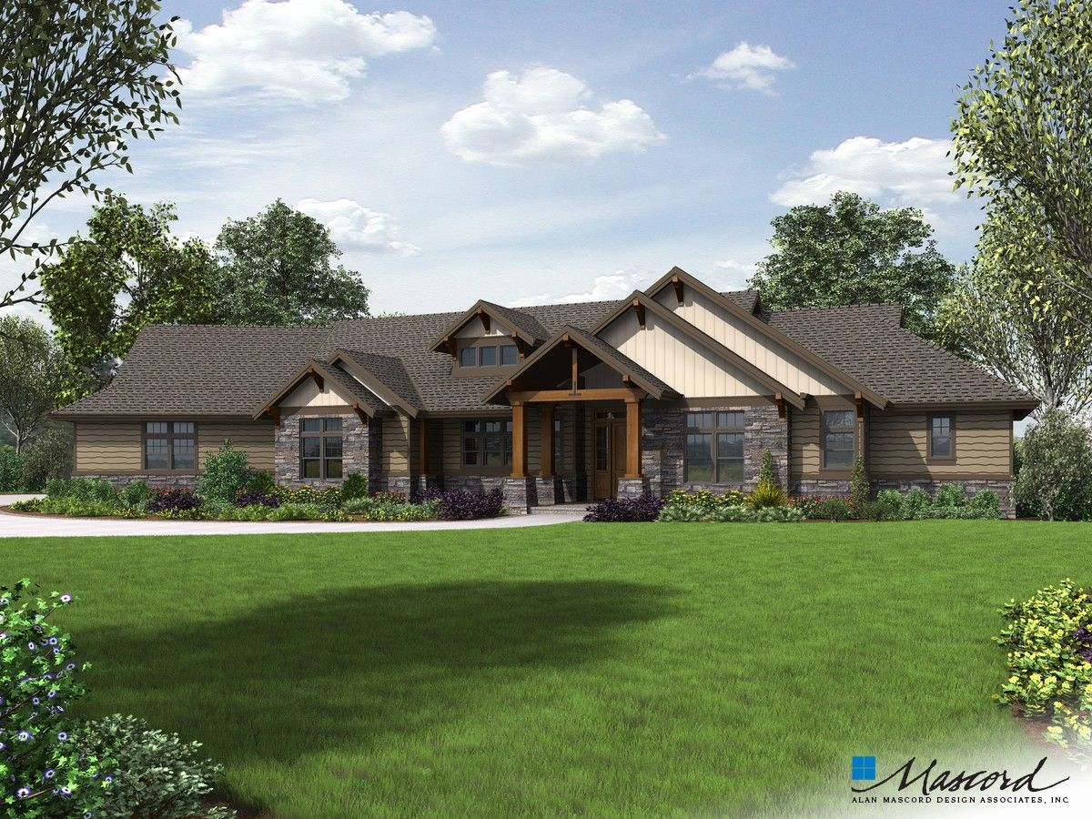 Mascord Plan 1345 The Wilson Craftsman House Plans Craftsman Style House Plans Craftsman House