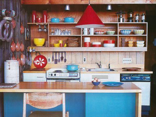 racheltrobertson:  Kitchen of Jens Risom's Block Island house.