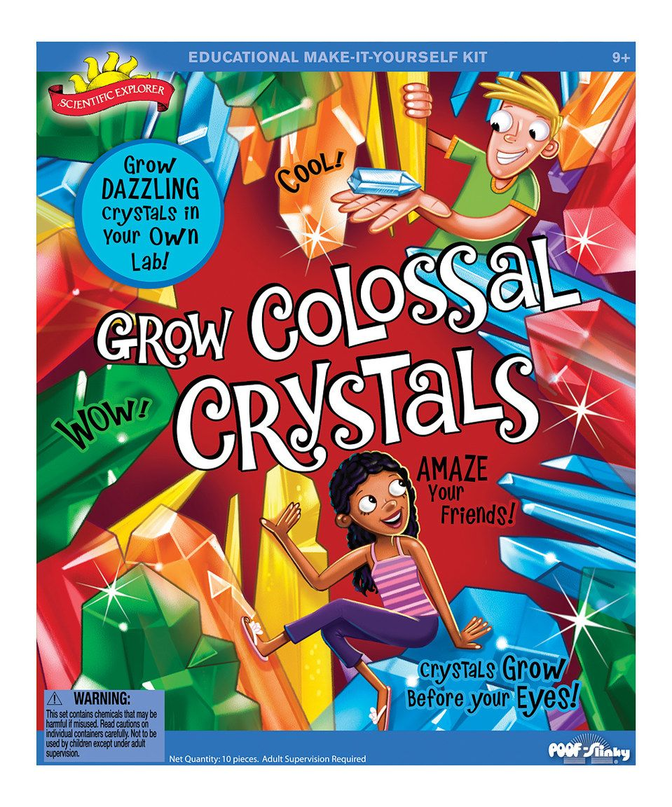 Grow Colossal Crystals Kit Growing Crystals Science Kits Hobbies For Girls