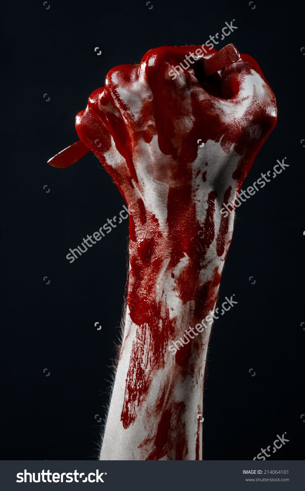 Bloody Hand With A Scalpel, A Nail, Black Background, Zombie, Demon ...