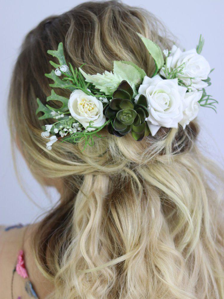 Penteado para noivas com flores 697a15b9bbb
