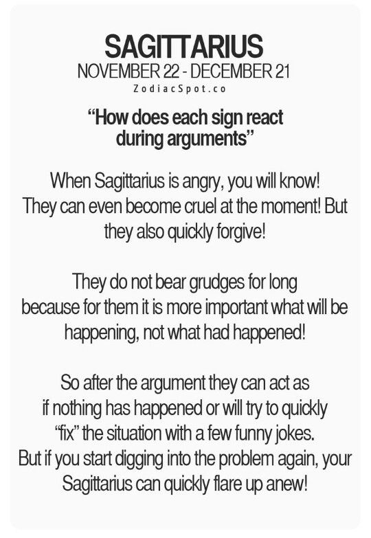 How does each sign react during arguments | Sagittarius Life