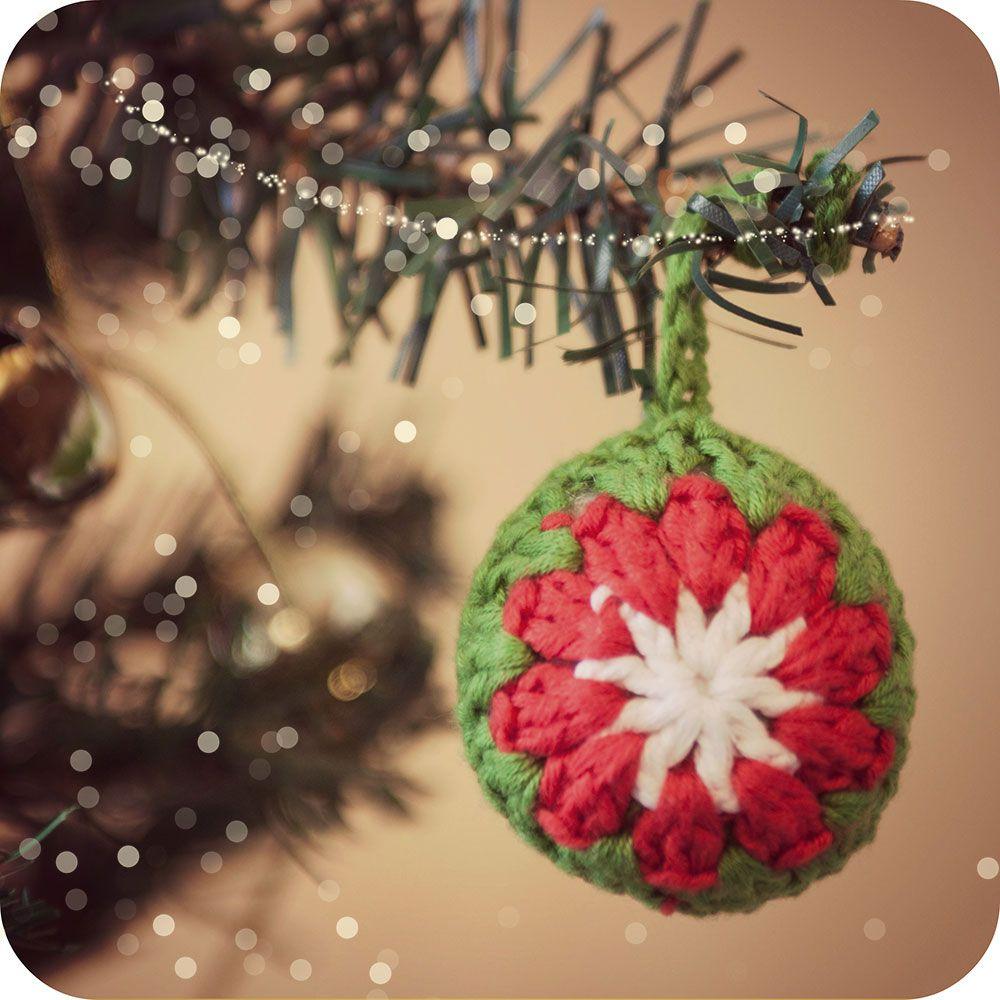 Como Hacer Una Bola De Ganchillo Para El Arbol De Navidad - Navidad-ganchillo