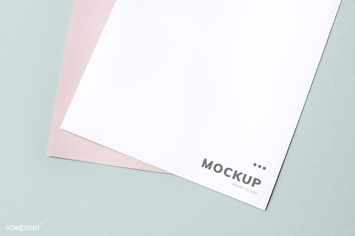 Document Mockup On A Plain Background Free Image By Rawpixel Com Mockup Plains Background Paper Mockup