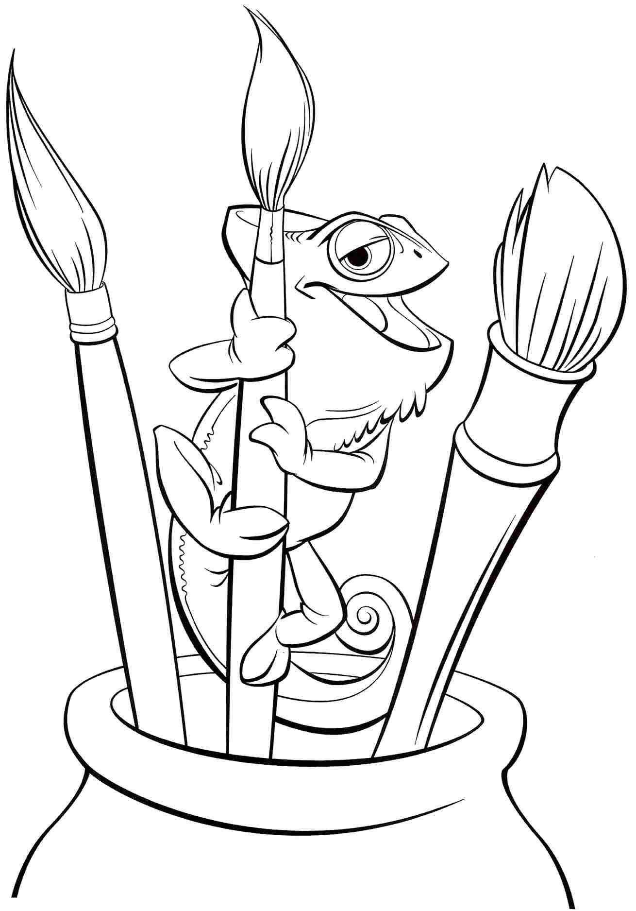 If You Want To Print The Disney Princess Tangled Rapunzel Colouring Pages Printable For Kids