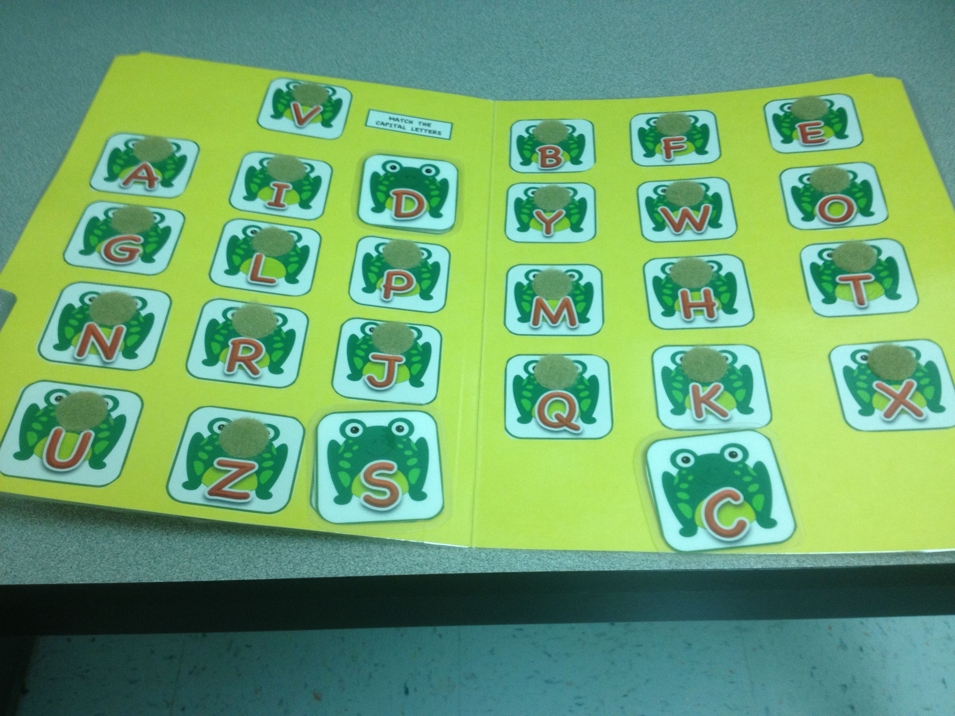 Autism Matching File Folders: Jump into Spring with Letters, Numbers ...