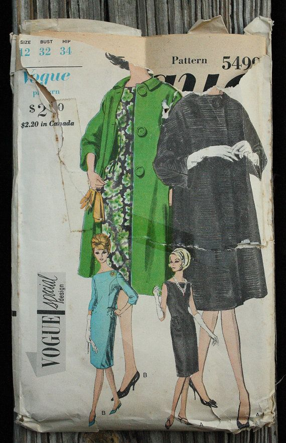 Vogue Special Design 5499 1960s 60s Cocktail by EleanorMeriwether