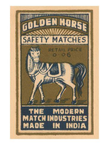 golden horse / matchbox