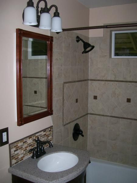 Mobile home remodels before and after bathroom for Bath remodel spokane