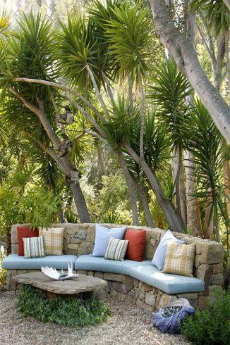 Outdoor Seating Maraichage Jardins Banc Jardin Et Pierres Jardin