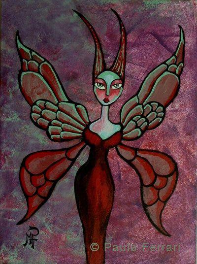 la Fée du Crépuscule / Fairy - Marie Paule Ferrari artiste peintre décoratrice