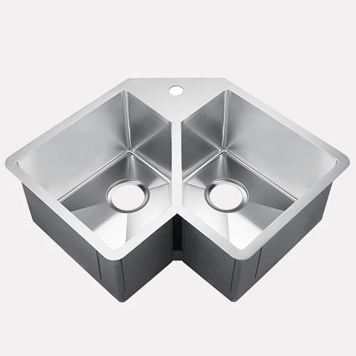 33 Daventry Stainless Steel Double Bowl Corner Kitchen Sink Corner Sink Kitchen Sink Kitchen Sink
