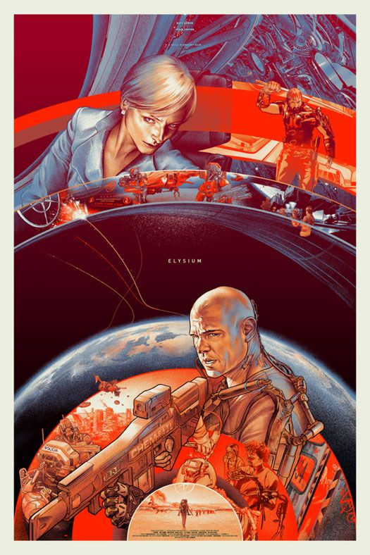 ELYSIUM, it's an ok action flick, great visuals.