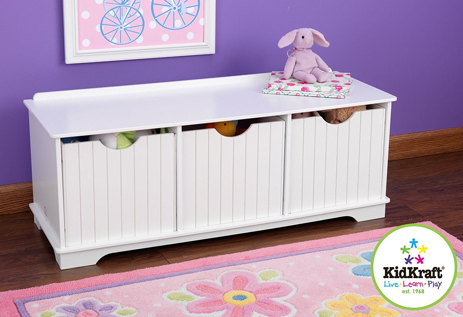 KidKraft Nantucket Storage Bench - White *** Find out more about the ...