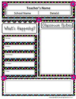 free classroom newsletter template i used it and it s super cute