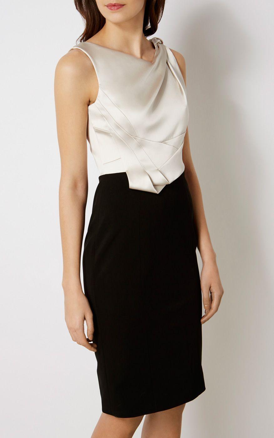 de79599390 FOLDED PENCIL DRESS   Luxury Women's new-in_garments   Karen Millen ...