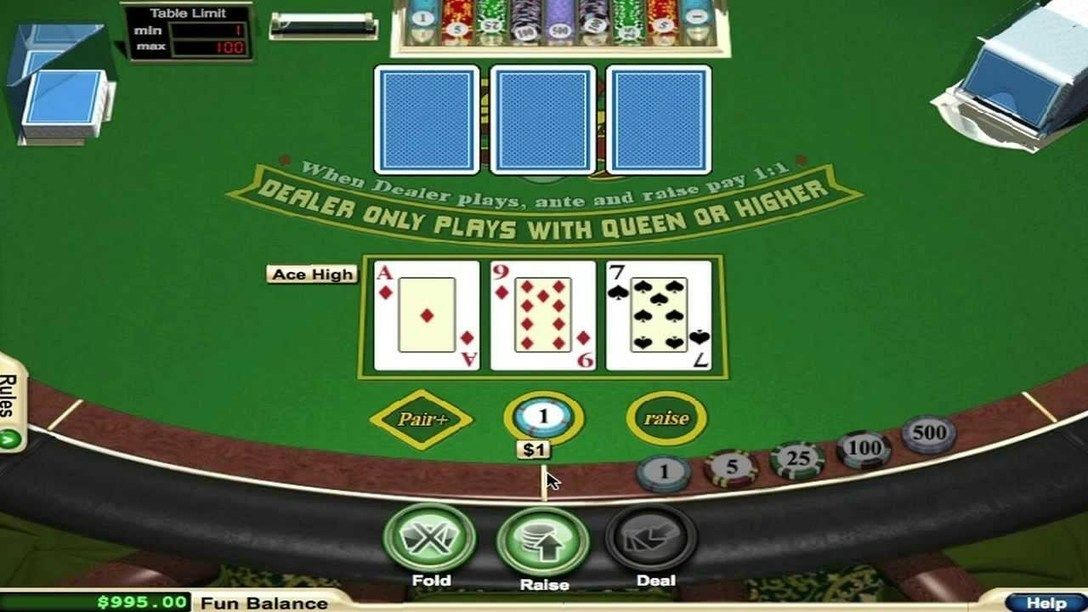 How to Play 3 Card Poker Poker, Play casino games, Casino