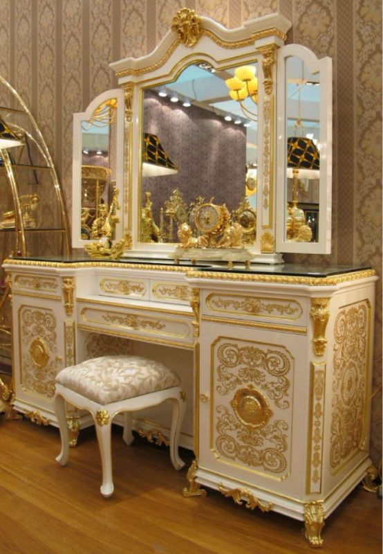 New White Gold Colour Luxury Gold Plated European Style Bedroom