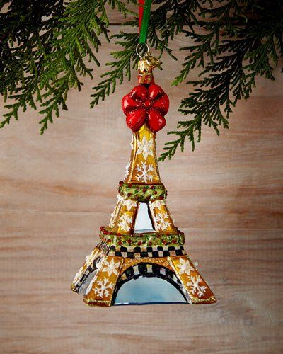 Eiffel Tower Christmas Ornament *Horchow* Pinterest Christmas