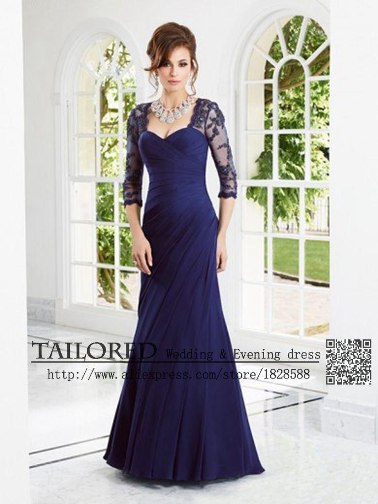 074787ed01 Madre de la novia vestidos tres del cuarto vestido de Festa Elegant ...