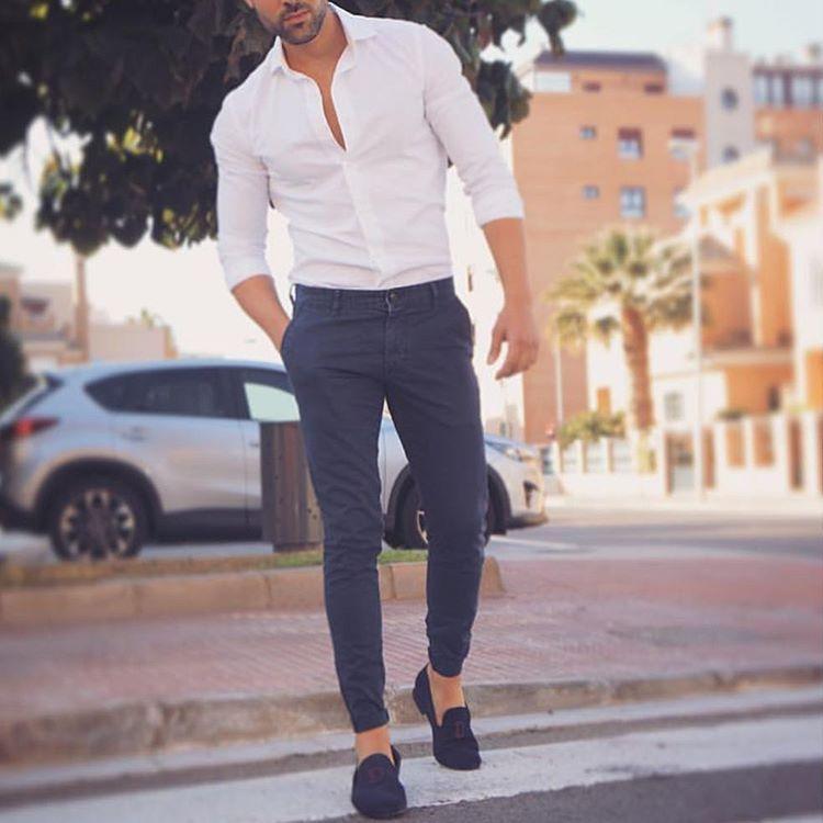 casual modern formal dress for men