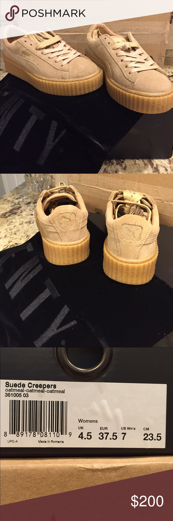 new concept 90761 bcf04 Puma Rihanna creepers oatmeal/wheat women's size 7 These are ...