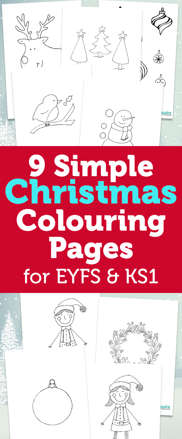 9 simple christmas colouring pages early years foundation stage pinterest simple christmas foundation stage and eyfs