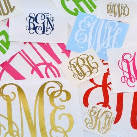 Variety Monogram Decal Economy Package