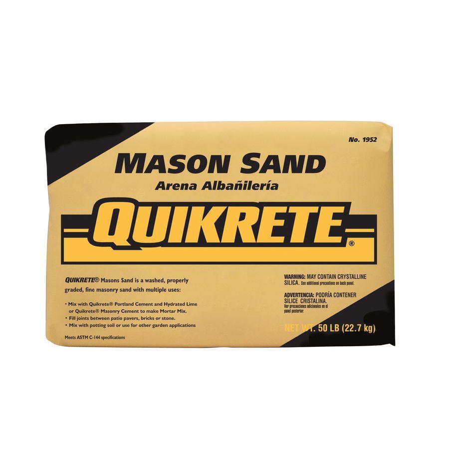Quikrete 50 Lb Dry Mason Sand At Lowes Com Mason Sand Portland