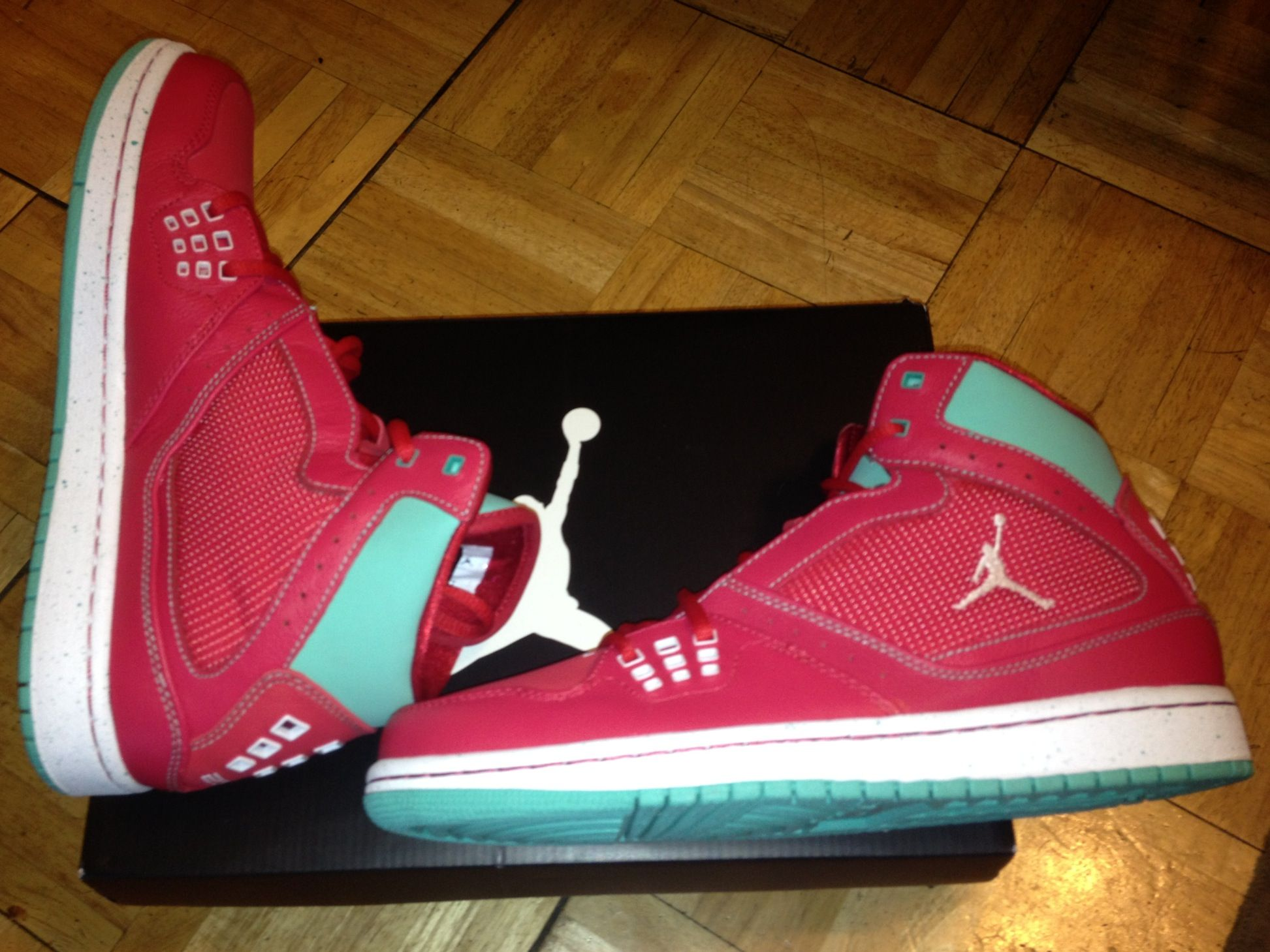 Jordan 1 Flight - True Red White-Crystal Mint - These shoes were a gift...I  know...I m a lucky girl  ) 0f227fef7c