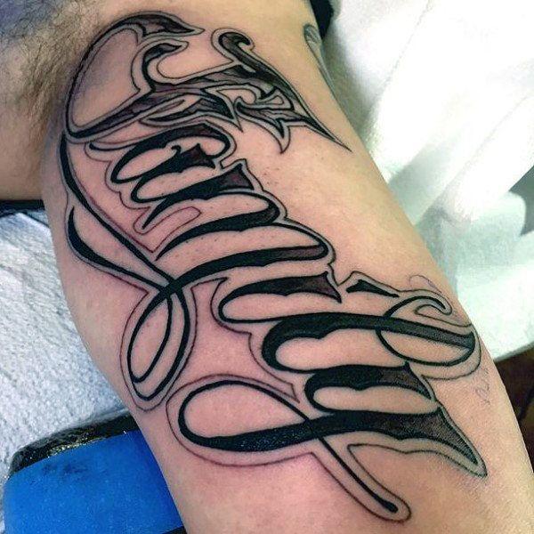 Mens Forearms Family Word Tattoo Family Tattoos For Men Word Tattoos Tattoos For Guys