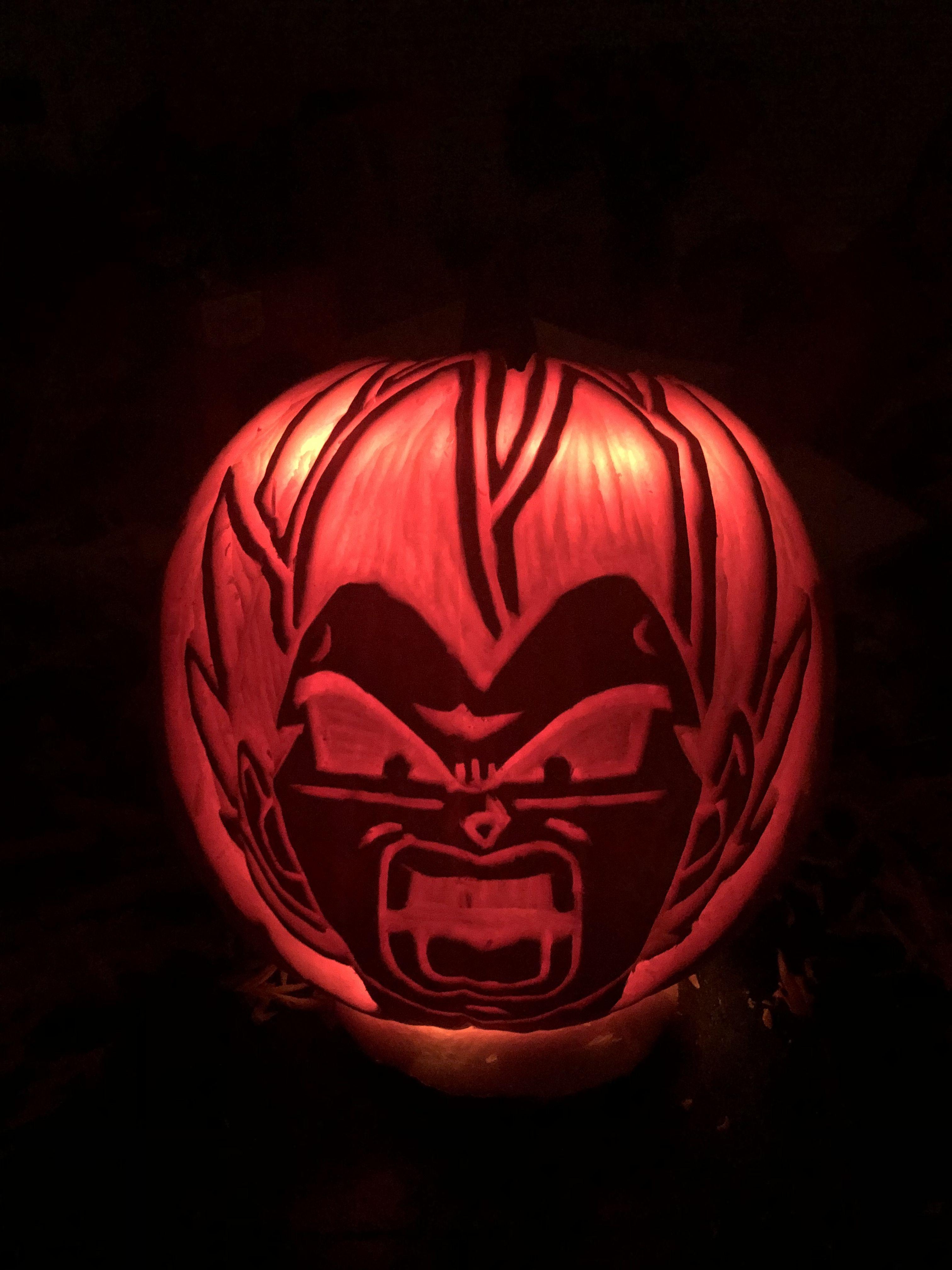 Vegeta Pumpkin Carving: Vegeta Character From Dragon Ball Z In 2019