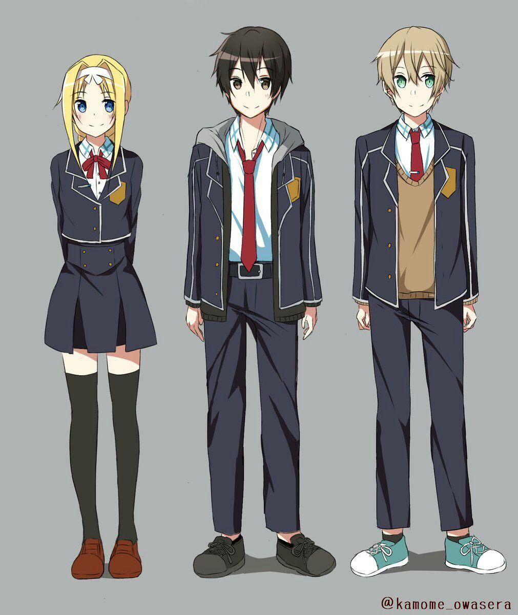 Kirito, Eugeo e Alice Gambar