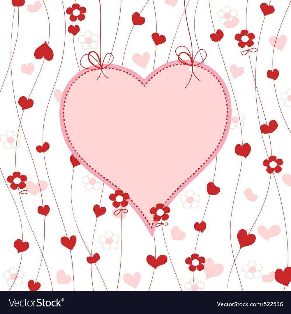 Cute heart frame Royalty Free Vector Image  VectorStock