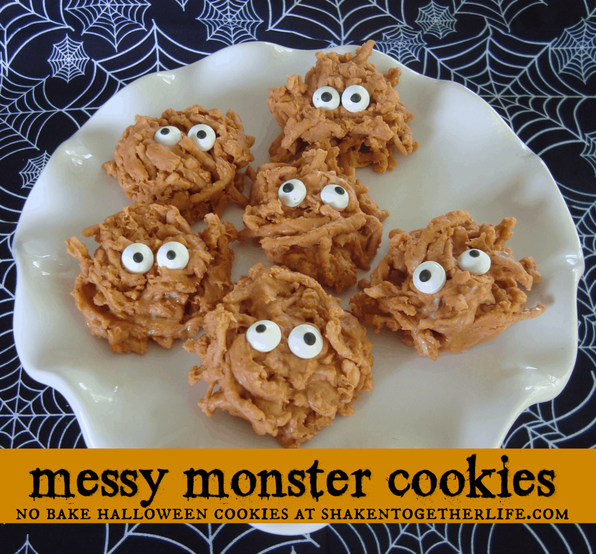 Messy Monster No-Bake Halloween Cookies | Recipe | Monster ...