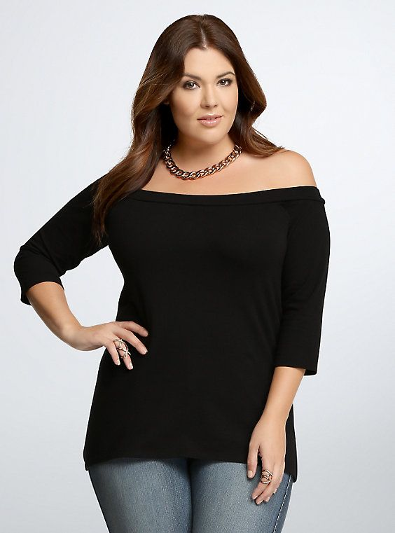 0121a95bb42e55 Off The Shoulder Bardot Top | What to Wear | Bardot top, Tops, Off ...