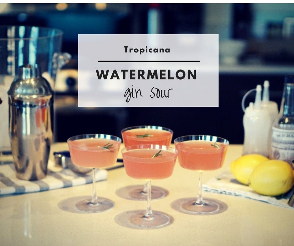 Perfect for any party! #MixedWithTrop Watermelon Gin Sour from Her Tasty Life.